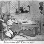 A_physician_by_his_patient's_death-bed;_represented_with_a_s_Wellcome_L0014205